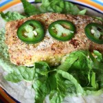 Thumbnail image for Battered Baked Alaskan Fish Tacos with Spicy Peruvian Cilantro Sauce Recipe