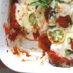 Thumbnail image for Eggplant in Marinara with Roasted Green Tomatoes: Seasonal Recipe