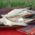 Thumbnail image for Fiesta del Yamor Fish Baked in Corn Husk with Hinode Brown Rice & Cactus Salsa