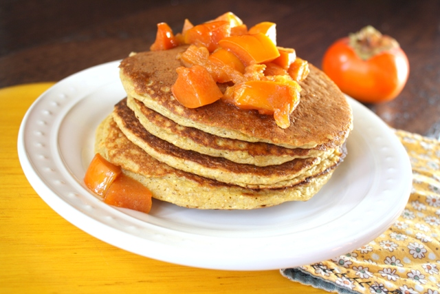 Recipe: Persimmon cornmeal pancakes
