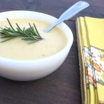 Thumbnail image for Potato & Roasted Garlic Soup with Rosemary Pesto Recipe
