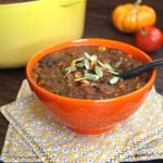 Thumbnail image for Pumpkin Black Bean Chili Recipe