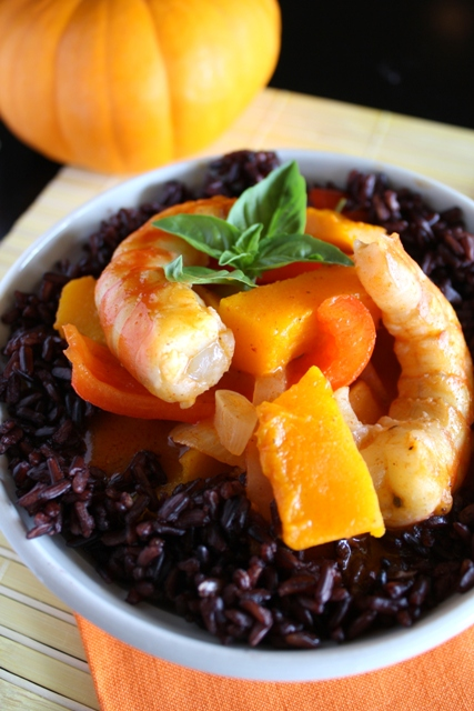 Recipe: Pumpkin curry with unique whole grain black rice